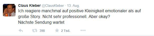 Kleber Tweet